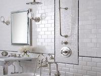 White tile bathroom ideas   For the house   Pinterest ...