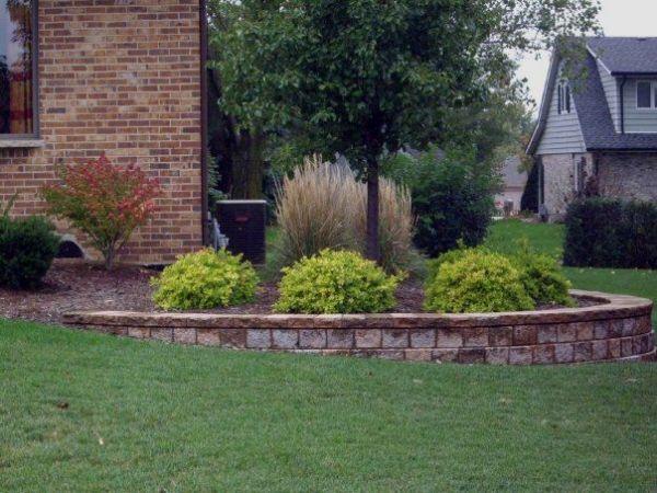 landscaping bi-level home retaining