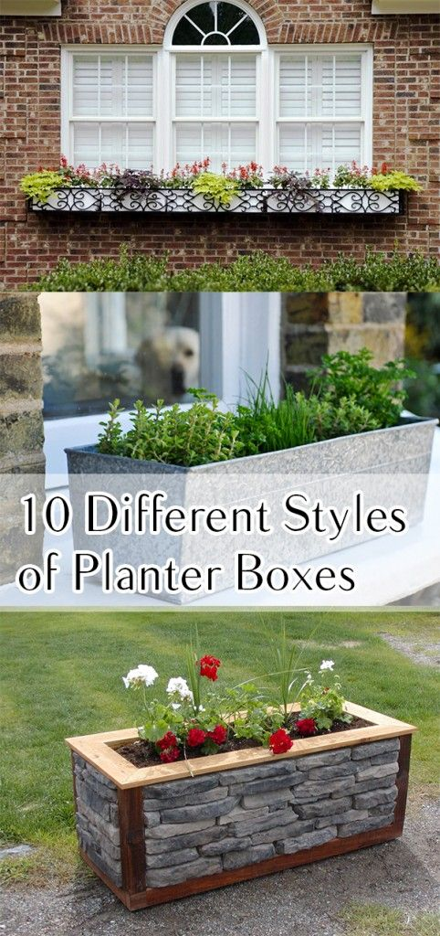 25 Best Ideas About Planter Boxes On Pinterest Diy Planter Box