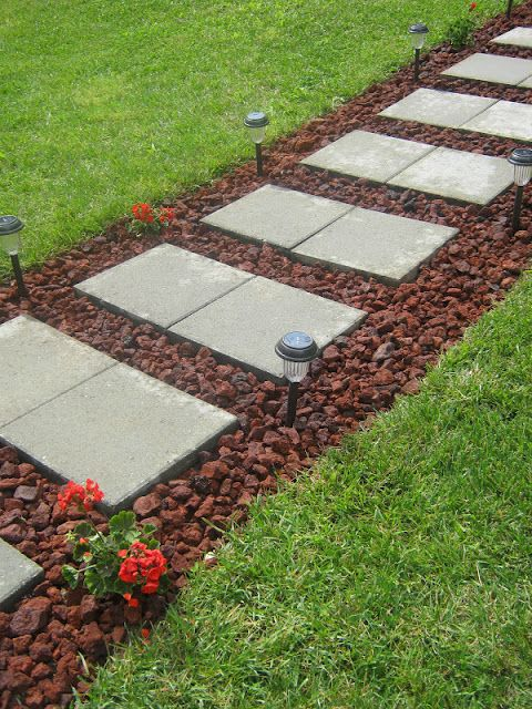 diy paver rock walkway #diy #homedecor