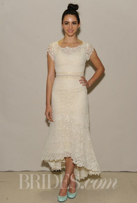 A TeaLength Lace Wedding Dress by Ivy  Aster  Older