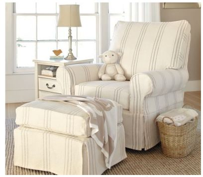 white slipcover chair and ottoman executive leather 17+ best images about rockers/recliners on pinterest | rocking chairs, nursery gliders ...