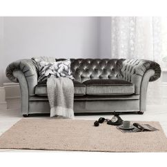 White Chesterfield 3 Seater Sofa Argentina Vs Mexico Sofascore Sarina In Grey By Gallery Homewares. Sumptuous, Dark ...