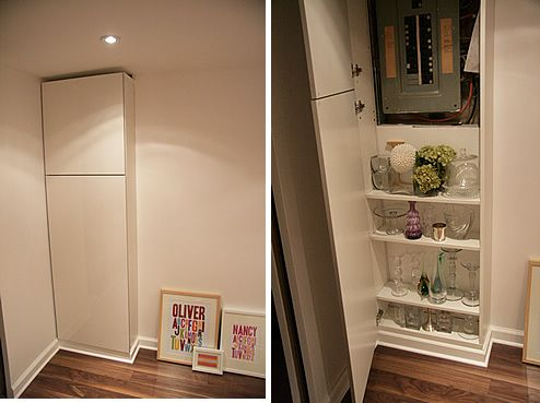 Great idea for hiding a electrical panel  Finished Basement  Pinterest  Creative The white