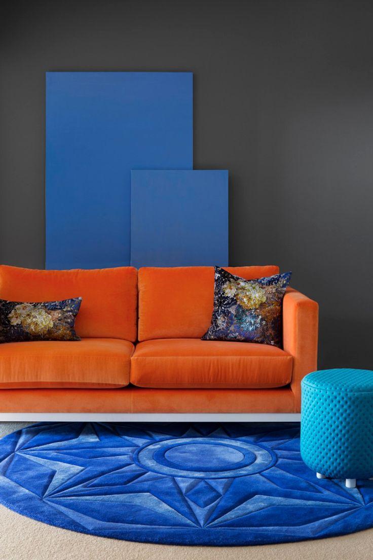 25 bsta iderna om Orange sofa p Pinterest