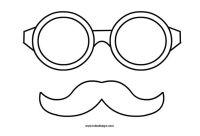 Carnevale  Occhiali e baffi da ritagliare