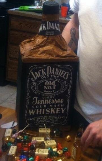 Jack Daniels piata for my husband Filled with mini jack