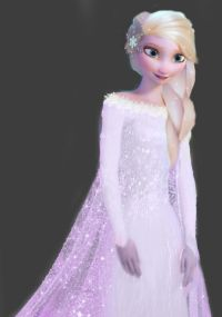 Frozen~Elsa in a wedding dress.... @Elsa Marques Marques ...