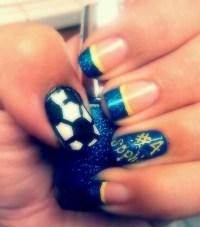 Soccer nails; | nail ideas :) | Pinterest
