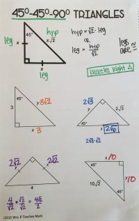 FREE Special Right Triangles Interactive Notebook Page for ...