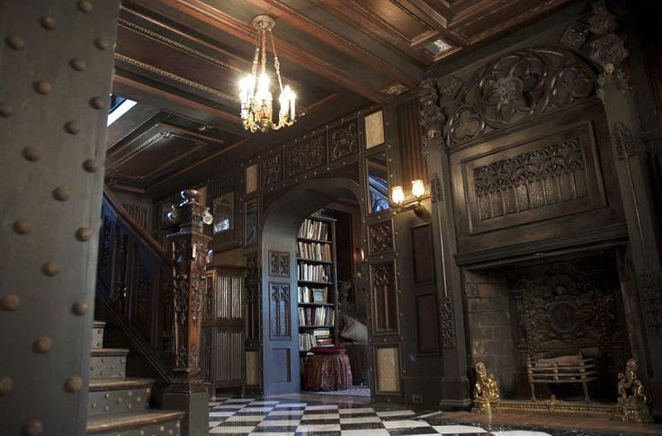 Old World Interior Mansion Victorian And Gothic Interior