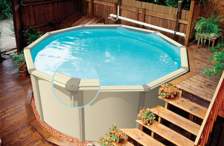 Portable Pool Reviews  Above Ground Pool Deck and