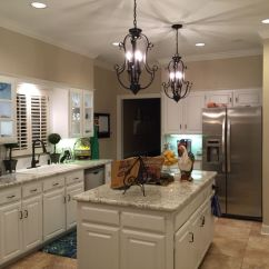 Black Kitchen Cabinet Pulls Country Decorations White Cabinets, Spring Granite, Sherwin ...