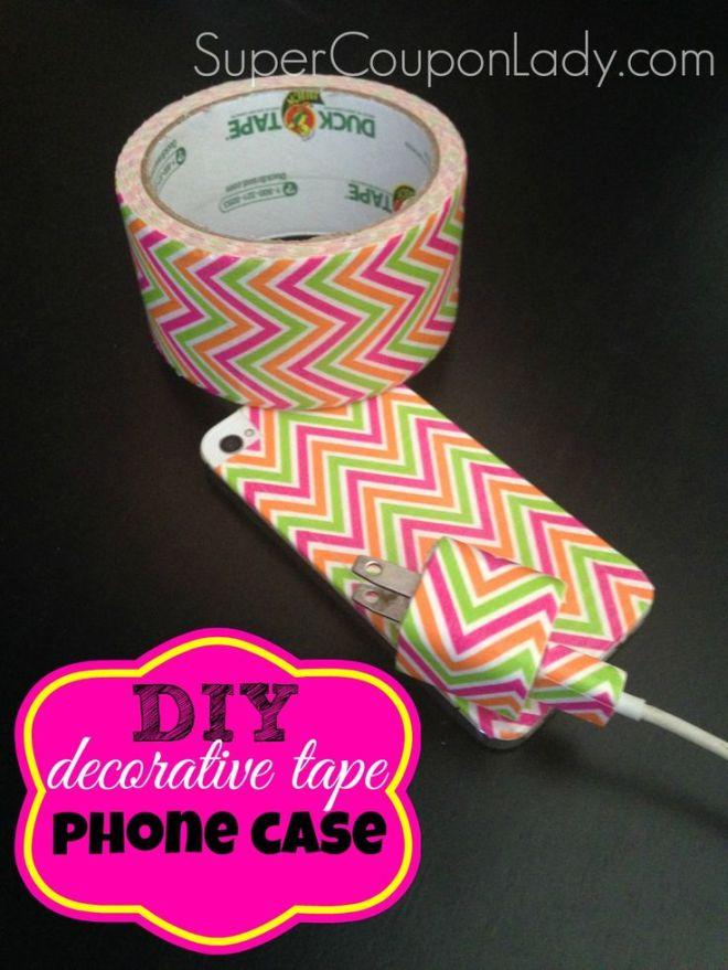 Diy phone case using washidecorative tape coupon lady