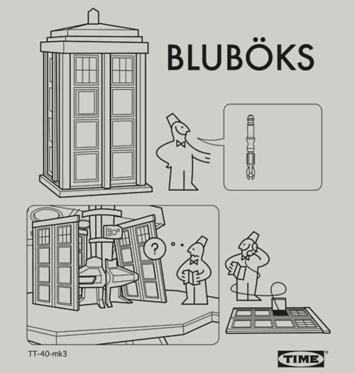 Bluboks (Ikea inspired Instructions to assemble the TARDIS