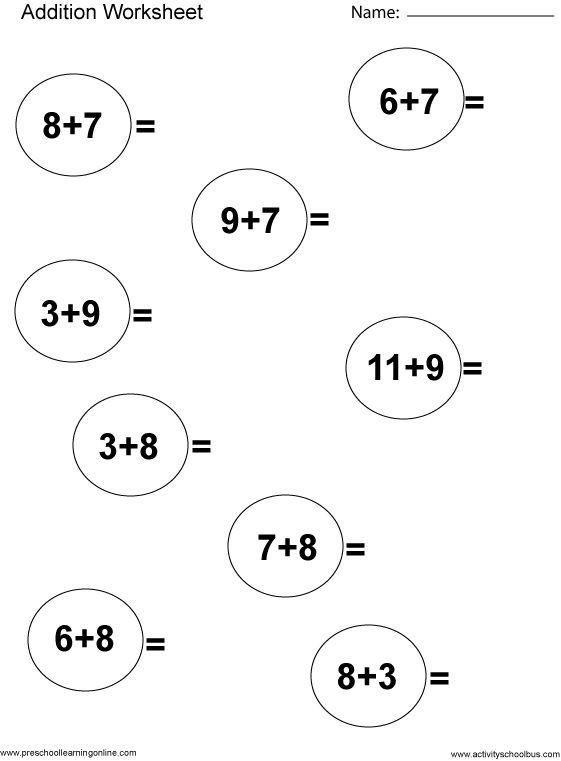 1000+ ideas about First Grade Math Worksheets on Pinterest
