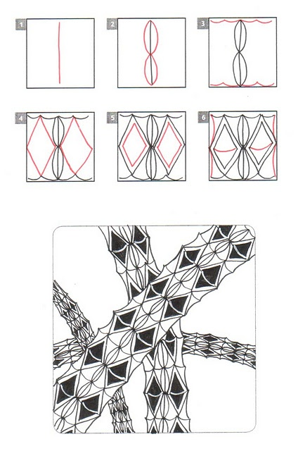 273 best images about Zentangle patterns on Pinterest
