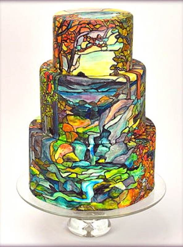17 Best images about Stained Glass Cakes on Pinterest