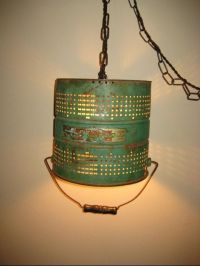 Upcycled Repurposed Green Fishing Minnow Bucket hanging ...