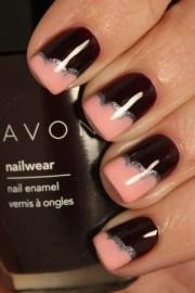 black and peach nails georgous