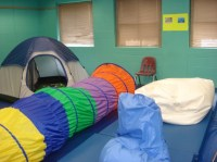 I like the idea of having a 1 person tent in the sensory ...