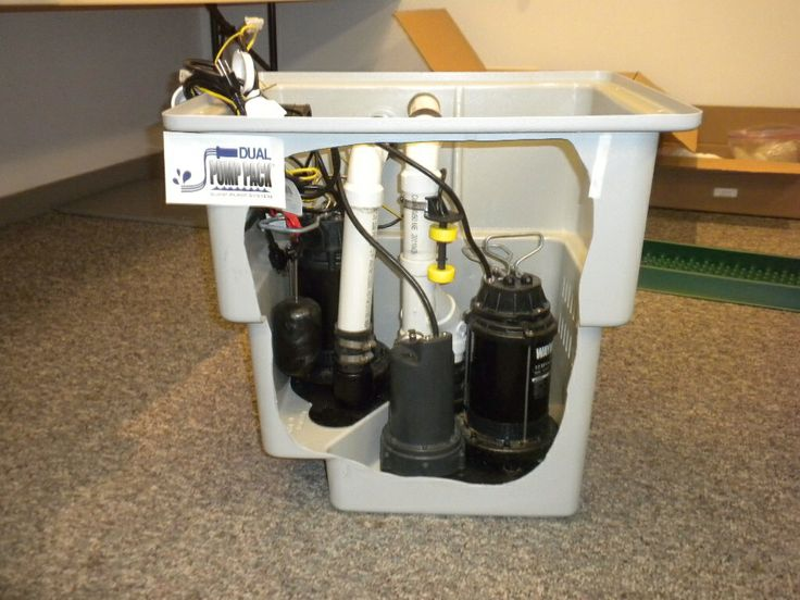 how to replace a sump pump basin