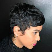 15 - black pixie haircut