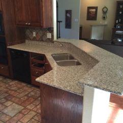 Kitchen Remodel San Antonio Lighting Luna Pearl Level 1 Granite - White And Gray Dark ...