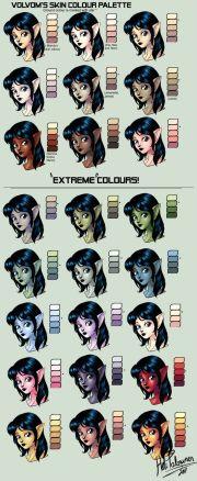 skin colour palette