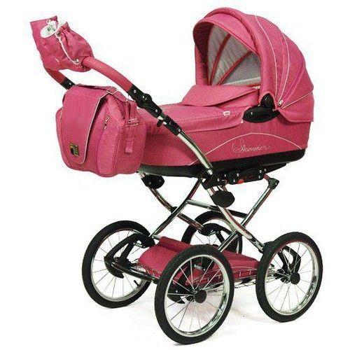 Knorr Baby Classico Pram Stroller Air Tyres pink