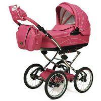 Knorr Baby Classico Pram Stroller Air Tyres pink ...