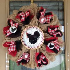 Primitive Kitchen Decorating Ideas Shelves For 29 Best Images About Rooster Wreaths On Pinterest