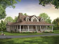 Single Story Farmhouse with Wrap around Porch | ... Square ...