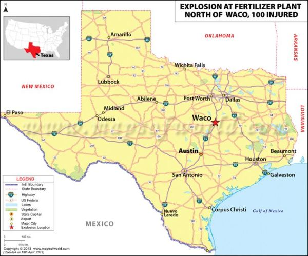 Explosion at Texas fertilizer plant The blast killed at