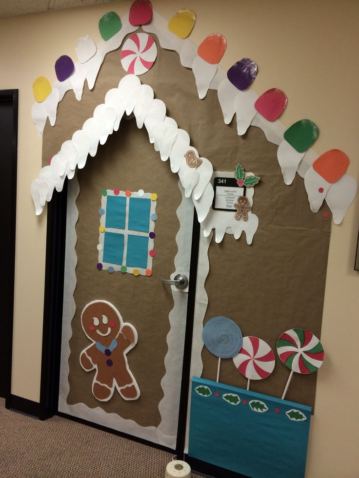 Gingerbread House Door Decorating Ideas - Gingerbread house garage
