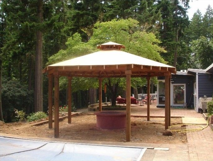 Simple Gazebo With Fire Pit Fire Pit For Your Home