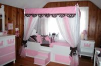 white beds for girls | Girl canopy beds | Trundle bed ...