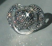 Crystal Swarovski Pacifier Princess Baby Girl Boy BLING ...