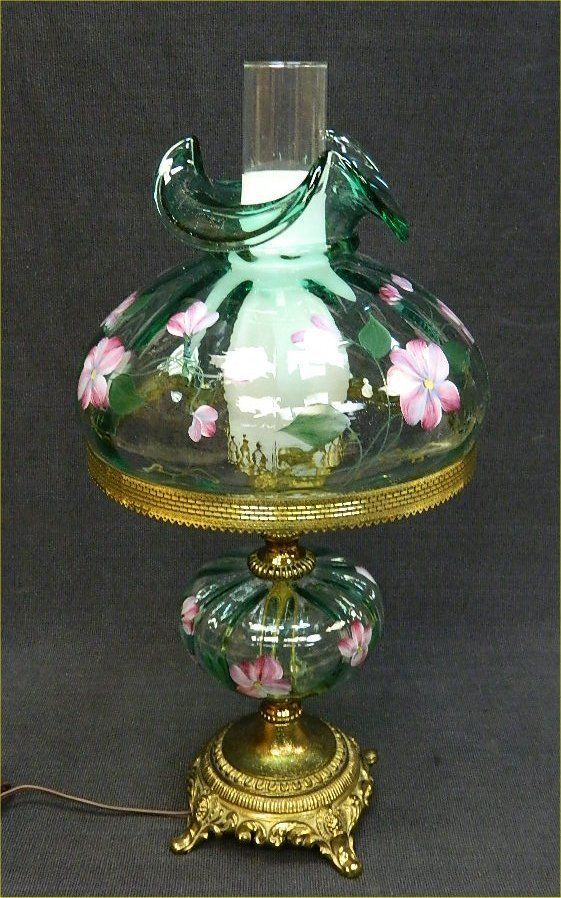 Fenton Hand Painted Signed D Robinson Donna Flowers