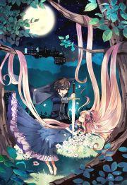 anime princess long hair dress