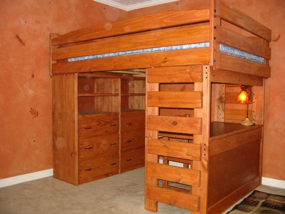 Loft Bed With Dresser And Desk Woodworking Projects Amp Plans