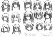 hair with bangs art inspirations