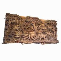 Carved Wood Art | wall carving bass relief wildlife ...