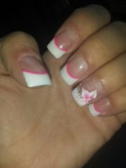 french tips with pink line under