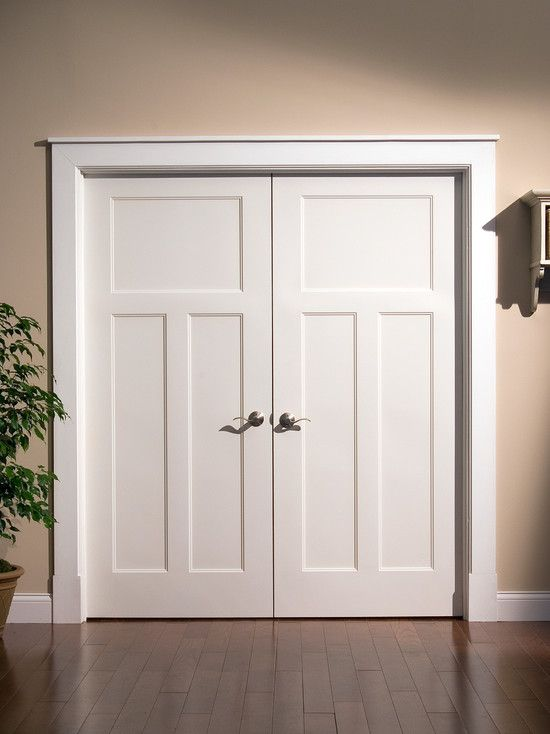 Craftsman look in interior doors  traditional  interior doors  Lynden Door  Home decorating