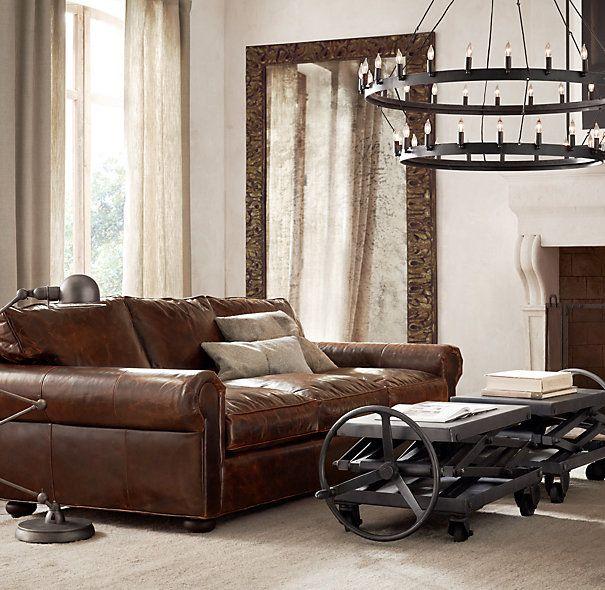 rh lancaster leather sofa sfar score calculator 25+ best ideas about sofas on pinterest | tan ...