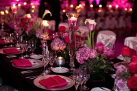 Table setting | Hot Pink and Black Wedding | Pinterest ...