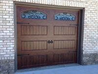 Clopay walnut finish Gallery Collection garage doors with ...