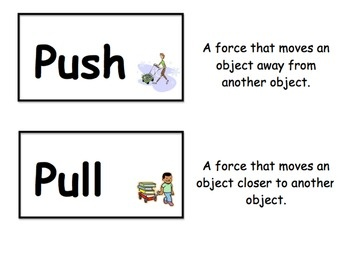 Here's a set of 23 vocabulary cards on forces and motion