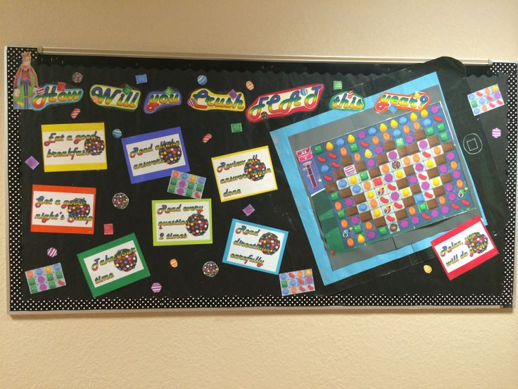 Candy Crush Bulletin board. How will you crush FCAT this
